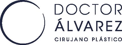 Logo en azul con fondo transparente del Dr. Rubén Álvarez